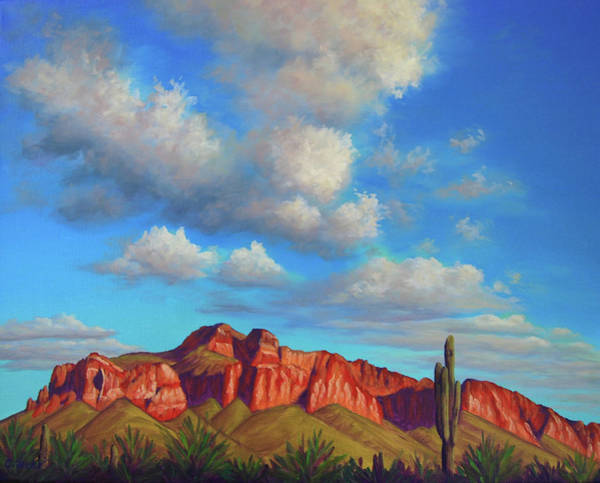 Painting - Clouds Over Superstitions by Cheryl Fecht