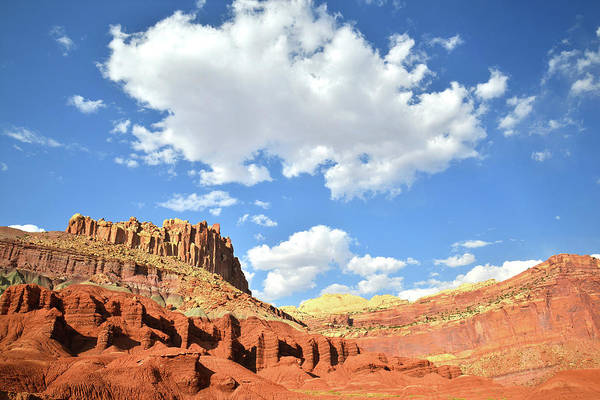Photograph - Clouds Over The Castle In Capitol Reef by Ray Mathis