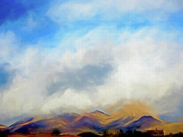 Mixed Media - Clouds Over The Desert 5 by Lynda Lehmann