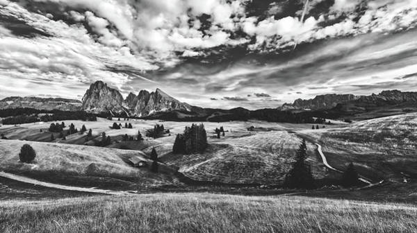 Clouds Over The Dolomites Art Print