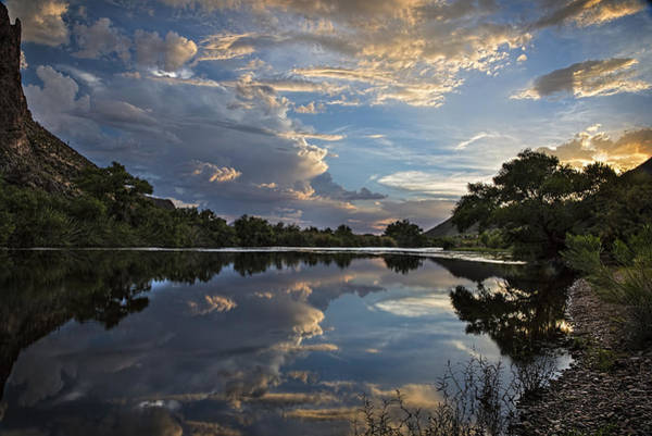 Photograph - Clouds Over The Salt River Arizona by Dave Dilli