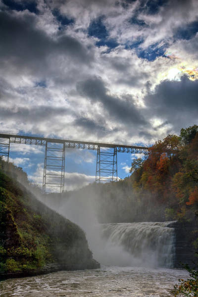 Wall Art - Photograph - Clouds Over Upper Falls by Rick Berk