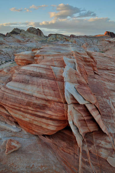 Photograph - Clouds Over Valley Of Fire At Sunset by Ray Mathis