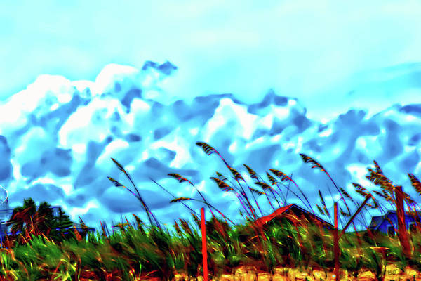 Clouds Over Vilano Beach Art Print