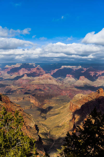 Photograph - Clouds Part At The Grand Canyon by Ed Gleichman