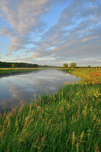 Photograph - Clouds Reflected In Nippersink Creek At Sunrise In Glacial Park by Ray Mathis