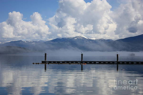 Priest Lake Photograph - Clouds Reflecting Off Priest Lake by Carol Groenen