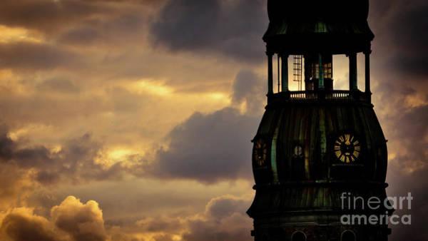 Photograph - Cloudscape Of Orange Sunset Riga Latvia Artmif.lv by Raimond Klavins