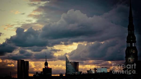 Photograph - Cloudscape Of Sunset Riga Artmif.lv Latvia by Raimond Klavins