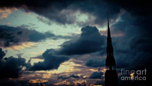 Photograph - Cloudscape Of Sunset Riga Latvia Artmif.lv by Raimond Klavins