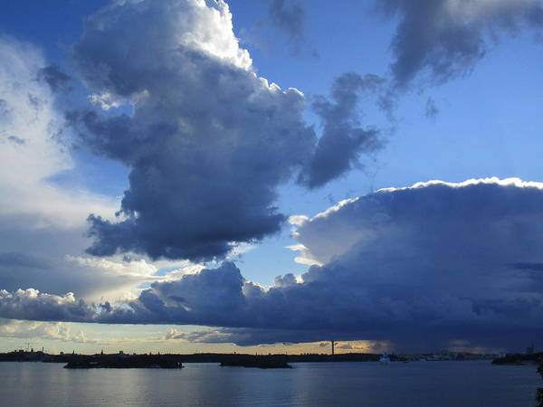 Photograph - Cloudscapes And The Sea by Rosita Larsson
