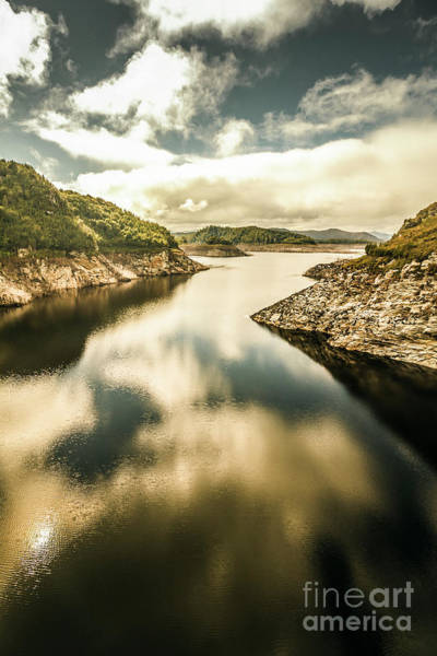 Dam Wall Art - Photograph - Cloudy Blue Lakes by Jorgo Photography - Wall Art Gallery
