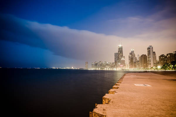 Michigan Ave Photograph - Cloudy Chicago Skyline by Anthony Doudt