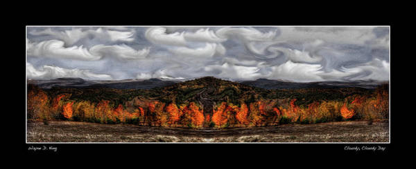 Photograph - Cloudy Cloudy Day Poster by Wayne King