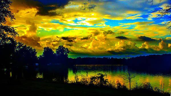 Photograph - Cloudy Dawn Colors by Jeff Kurtz