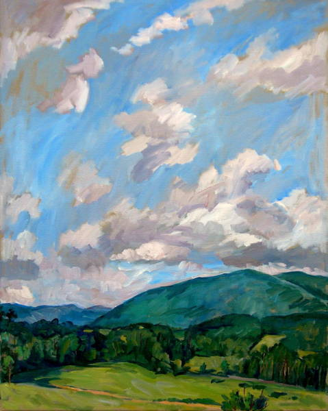 Wall Art - Painting - Cloudy Day Berkshires by Thor Wickstrom