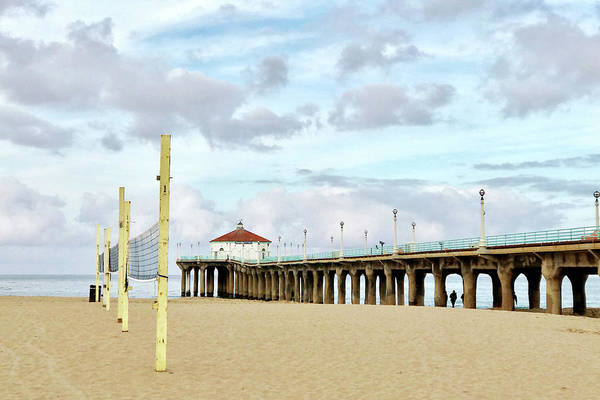 Wall Art - Photograph - Cloudy Day In Manhattan Beach by Art Block Collections