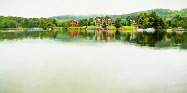 Cloudy Day On The Lake Art Print