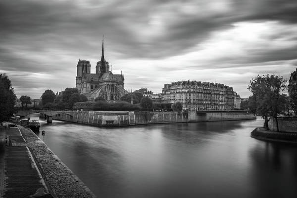 Photograph - Cloudy Day On The Seine by James Udall