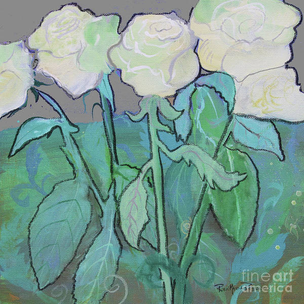 Painting - Cloudy Day Roses by Robin Maria Pedrero