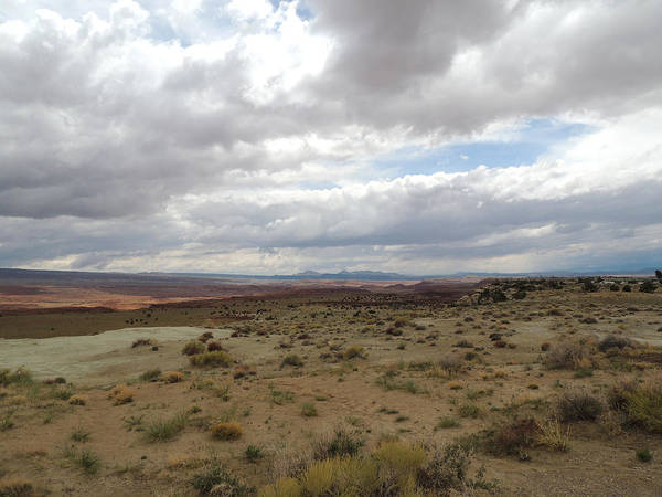 Photograph - Cloudy Desert by Andrew Chambers