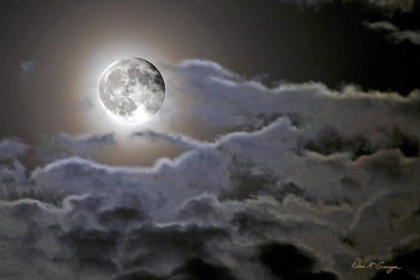 Photograph - Cloudy Moon by Dan McGeorge
