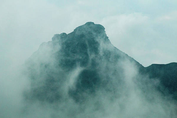 Photograph - Cloudy Mountain Peak by SR Green