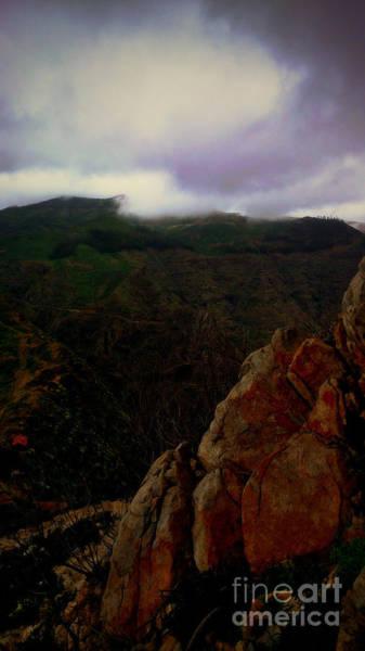 La Gomera Wall Art - Photograph - Cloudy Mountain View From La Fortaleza by Peter Hertzberg