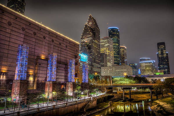 Photograph - Cloudy Night In Houston by David Morefield