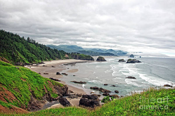 Photograph - Cloudy Oregon Coast From Ecola Park by Lincoln Rogers