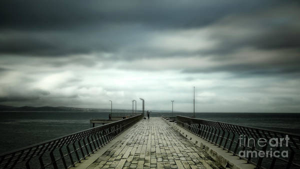 Wall Art - Photograph - Cloudy Pier by Perry Webster