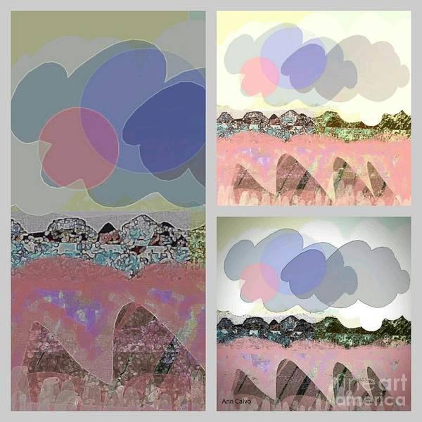 Mixed Media - Cloudy by Ann Calvo