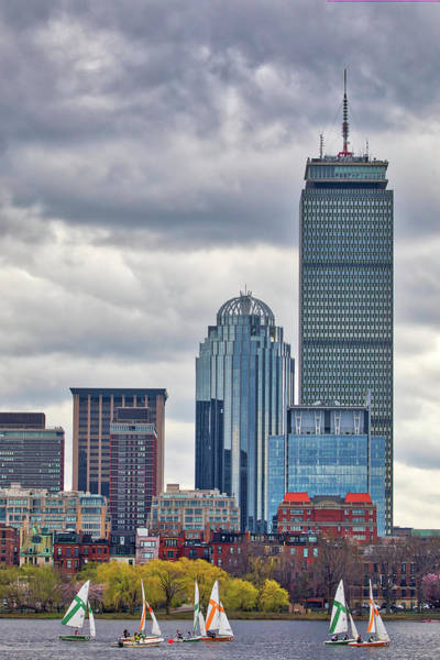 Photograph - Cloudy Skies Over Boston Back Bay by Juergen Roth