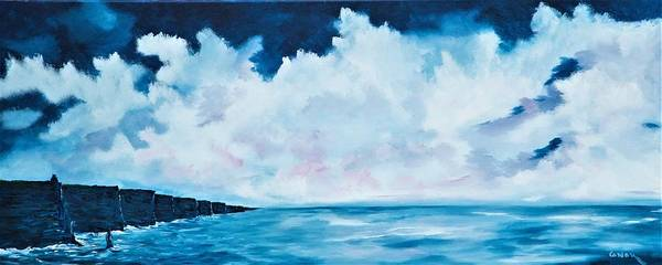 Painting - Cloudy Skies Over The Cliffs Of Moher by Conor Murphy