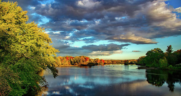 Stillwater Wall Art - Photograph - Cloudy Skies Over The Stillwater River by Library Of Congress