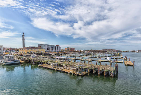 Photograph - Cloudy Sky Over Hingham Shipyard by Brian MacLean