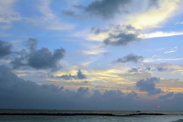 Photograph - Cloudy Sky Over The Sea At Sunset by Oana Unciuleanu