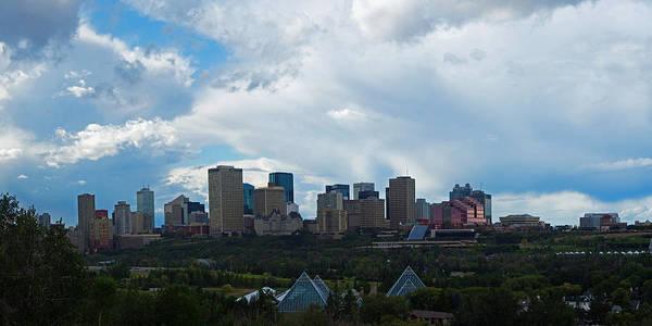Cloudy Skyline Edmonton Art Print