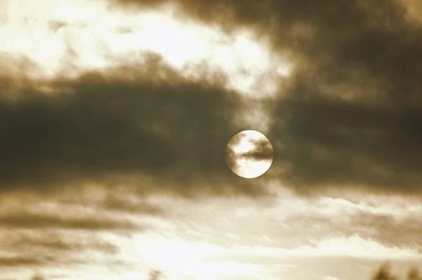Cloudy Sun Art Print
