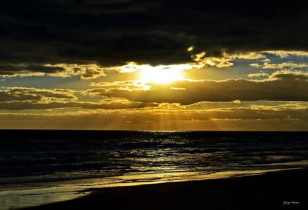 Flagler Photograph - Cloudy Sunrise At Flagler Beach 002 by George Bostian
