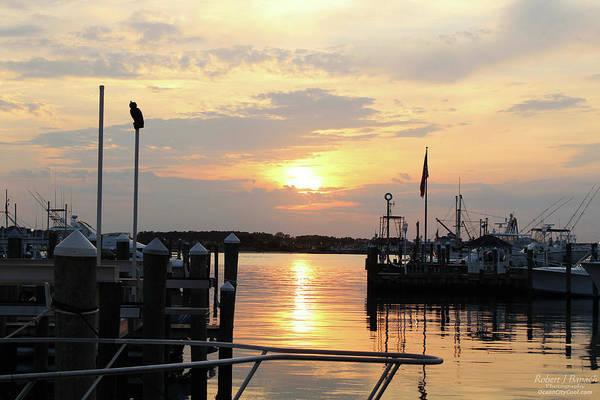Photograph - Cloudy Sunset At The Marina by Robert Banach