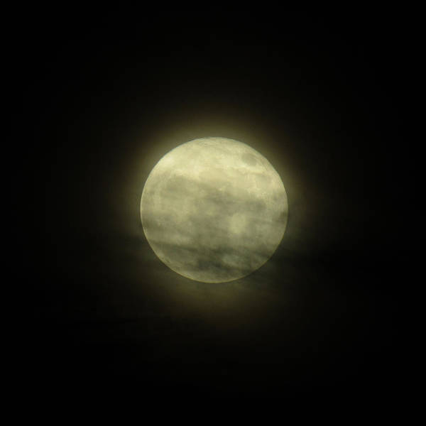 Photograph - Cloudy Super Moon by Robert Knight