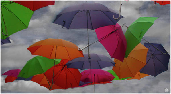 Photograph - Cloudy With A Chance Of Umbrellas by Wayne King
