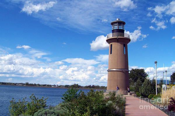 Photograph - Clover Island Lighthouse by Charles Robinson