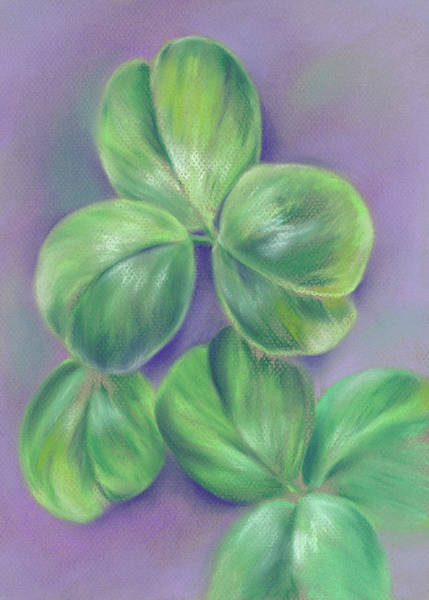 Pastel - Clover On Purple by MM Anderson