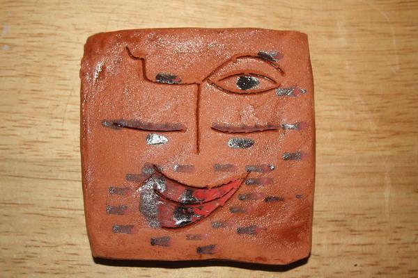 Ceramic Art - Clown - Tile by Gloria Ssali