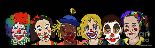 Digital Art - Clown Alley By Megan Dirsa-dubois by Megan Dirsa-DuBois