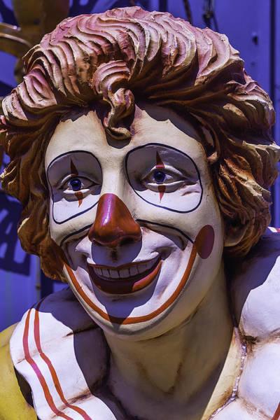 Junkyard Photograph - Clown Face by Garry Gay