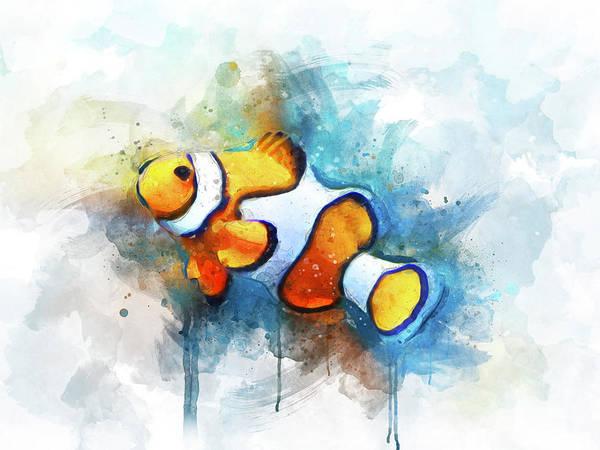 Reef Digital Art - Clown Fish by Aged Pixel