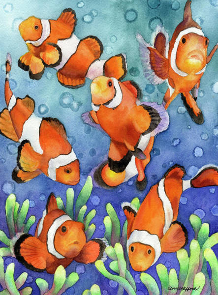 Painting - Clown Fish by Anne Gifford